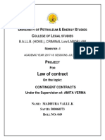 Contingent Contract Abstract and Synopsis