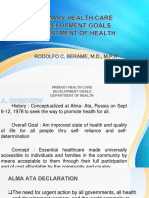 Pcm Primary Health Care Development Goals and Doh