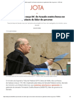 Celso de Mello Nega HC Do Senado Contra Busca No Gabinete de Líder Do Governo - JOTA Info