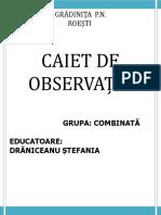 Caiet de Observatii Asupra copiilor