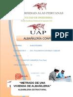 TRABAJO DE ALBAÑILERIA