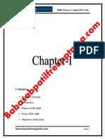 A Project Report on Financial Ratios at b.d.k. Ltd. Hubli Project Report