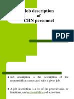 Chn Job Description
