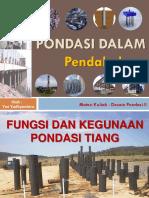 2. Desain Pondasi II - Fungsi dan Jenis Pondasi Dalam.pdf