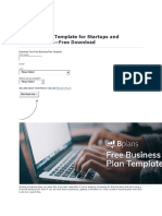 Business Plan Template for Startups and Entrepreneurs