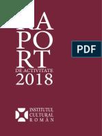 Raport de activitate ICR 2018