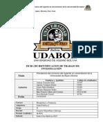 Proyecto Prevalencia Del Consumo Del Cigarrilo en Universitarios de La Universidad Aquino Bolivia