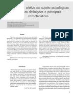 Pinto 2007 - a Dimensão Afetiva Do Sujeito Psicológico, Algumas Definições e Principais Características