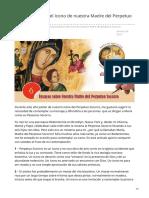 Cssr.news-Contemplación Del Icono de Nuestra Madre Del Perpetuo Socorro