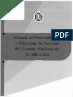 Manual de Reclutamiento y Seleccion de Personal Del CNJ