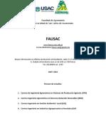 Pensun de Estudios Carreras 2016 Facultad de Agronomía