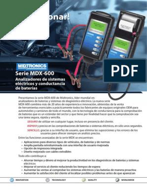 Midtronics A088 Impresora T/érmica de Infrarrojos Juego de 1