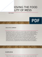 Improving the Food Quality of Mess