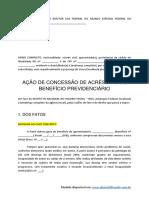 Modelo Acao de Concessao de Acrescimo de Beneficio Previdenciario