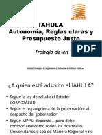 Situación Del Iahula Marzo2019