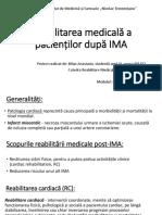 Reabilitarea medicală a pacienților post IMA