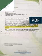 Carta al Mayor del Batallón Especial Energético y vial n.19