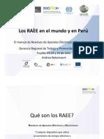 RAEE EN EL MUNDO Y  EL PERU