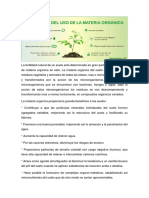Beneficios de la materia orgánica
