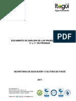 Documento de Analisis de Pruebas Externas 2017
