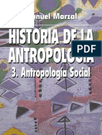 Historia de La Antropologia Vol 3