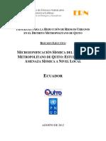 Microzonificacion Sismica DMQ ERN2012 InfEjecutivo