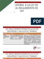 Modificatoria a La Ley de 29783 y Al Reglamento de Sst
