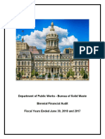 DPW Biennial Financial Audit Report 2017 and 2018