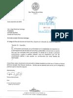 Carta sobre referido a Abel Nazario a Comisión de Ética