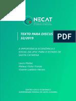 Necat Ufsc - Importância Da Ufsc