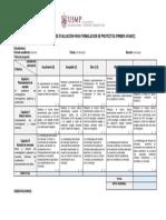 f. Rúbrica de Evaluación de Trabajo de PROYECTOS