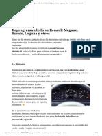 Reprogramando Llave Renault Megane, Scenic, Laguna y Otros – Www.fontana.com.Ar