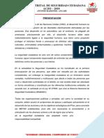 Plan Local de Seguridad Ciudadana Del Distrito de Aczo 2018