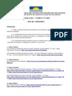 Rol de Certidões_Resolução 177_CNMP