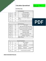 Cantilever Wall Design Spreadsheet Example