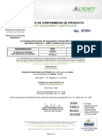 Cidet Borneras de Prueba # 07291 Vigente 08-01-2022