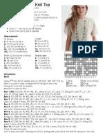 Crush on Lace Knitting pattern with chart
