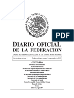 Diario oficial de la federación Mexicana 01112019-MAT