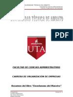 """Resumen del libro """"Enseñanzas del Maestro"""""""