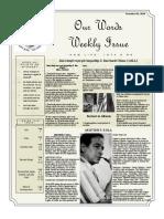 Newsletter Volume 10 Issue 39