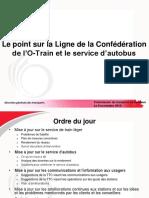Le point sur la Ligne de la Confédération de l'O-Train et le service d'autobus