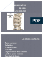 Degenerative Spinal Disorders