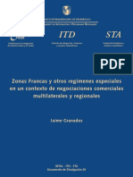Zonas Francas y Otros Regímenes Especiales en Un Contexto de Negociaciones Comerciales Multilaterales y Regionales