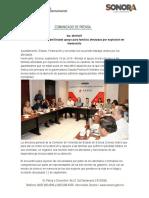 19-09-19 Coordina Gobierno del Estado apoyo para familias afectadas por explosión en Hermosillo