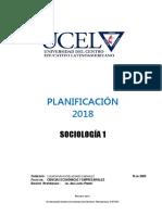 18 - Sociologia I 2018 (Plan 2003)