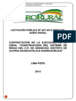 Construccion Sistema Riego Huancavelica