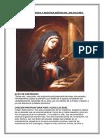 Oración a La Virgen de Los Dolores