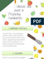 Sandwich Tools