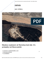 Mystery Explosion at Nenoksa Test Site_ It's Probably Not Burevestnik – Russia Military Analysis