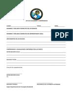 Acta de Acuerdos y Compromisos